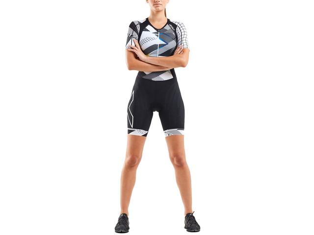 2XU Compression Sleeved Trisuit Women black/chroma